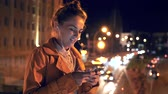 Woman using smartphone for video call Stock Footage