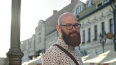 careca : Portrait of hipster man in the city