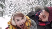 nonsense : Couple having a fun in the winter