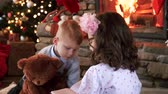 wish : Portrait of siblings make preparations for christmas