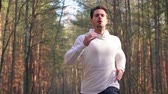 Running is way for healthy lifestyle Stock Footage