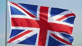 britse vlag : Strong wind and British Flag