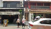 unesco world heritage : Malacca,Malaysia - May 5,2019 : Jonker Street is the centre street of Chinatown in Malacca. It was listed as a UNESCO World Heritage Site on 7 July 2008. People can seen exploring around it.