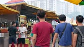 imperador : Selangor ,Malaysia - Oct 13, 2019 : During the Nine Emperor Gods Festival,there are some stalls selling religious prayer ornaments and vegetarian foods, people can seen exploring around it. Vídeos