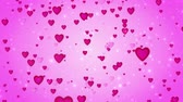 Romantic wedding pink background. The movement of red hearts. Love symbol. Valentine. 3D animation Stock Footage
