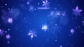 Snow falls and decorative snowflakes. Winter, Christmas, New Year. Available in high-resolution and several sizes to fit the needs of your project. 3D animation. Stock Footage