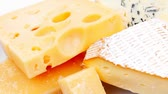 queijo cheddar : various types of cheese platter 1920x1080 intro motion slow hidef hd