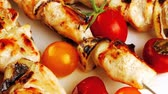 capers : fresh roast chicken shish kebab platter 1920x1080 intro motion slow hidef hd