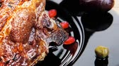 capers : baby ribs served on plate over wooden table 1920x1080 intro motion slow hidef hd