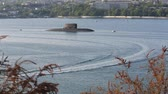 Russian submarine in Sevastopol 影像素材