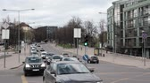 capitais : Vilnius, Lithuania. Traffic On Olympians Street In Spring Day