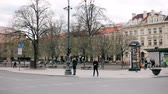 cesta : Vilnius, Lithuania. Traffic On Olympians Street In Spring Day