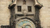 praga : Prague Astronomical Clock, Or Prague Orloj Is A Medieval Clock Located In Prague, The Capital Of The Czech Republic Wideo