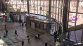 európa : Minsk, Belarus - April 18, 2018: People In Minsk Railway Station