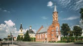 belarus : Rechytsa, Gomel Region, Belarus. Holy Trinity Catholic Church In Sunny Summer Day