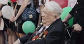 sivil : Gomel, Belarus - May 9, 2018: Great Patriotic War Veteran Visiting Celebration Victory Day 9 May In Gomel Homiel Belarus