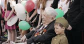 kutlama : Gomel, Belarus - May 9, 2018: Great Patriotic War Veteran Visiting Celebration Victory Day 9 May In Gomel Homiel Belarus