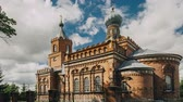 inteiro : Pirevichi Village, Zhlobin District Of Gomel Region Of Belarus. All Saints Church Is Old Cultural And Architectural Monument. Time Lapse, Timelapse Stock Footage