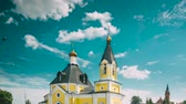 old time : Rechytsa, Gomel Region, Belarus. Cathedral Of Dormition In Sunny Summer Day