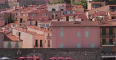 Collioure, France.Hilly Cityscape In Sunny Day