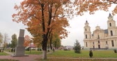 メリー : Budslau, Myadzyel Raion, Minsk Region, Belarus. Church Of Assumption Of Blessed Virgin Mary In Autumn Day