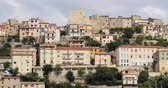 gayrimenkul : Monte San Biagio, Italy. Top View Of Residential Area. Cityscape In Autumn Day Under Blue Cloudy Sky