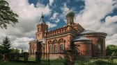 gomel : Pirevichi Village, Zhlobin District Of Gomel Region Of Belarus. All Saints Church Is Old Cultural And Architectural Monument. Time Lapse, Timelapse, Time-lapse Stock Footage