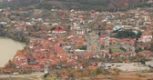 世界遺産 : Mtskheta Georgia. Top View Of Ancient Town And Svetitskhoveli Cathedral During Autumn Day. UNESCO World Heritage Site