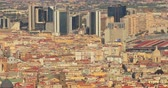 napoles : Naples, Italy. Top View Cityscape Skyline With Modern Skyscrappers In Sunny Day Archivo de Video