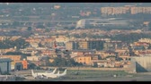 napoles : Naples, Italy - October 17, 2018: Airplane Plane Of EasyJet Airlines Landing At Naples International Airport Archivo de Video