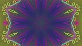 abstrakcja : Abstract colored wavy lines pattern. Motion background. Seamless Loop. Kaleidoscope. Wideo