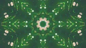 backlight : Abstract green background. Kaleidoscopic. Colorful beams, stars, circles. Seamless loop.