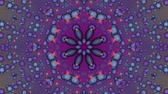 Purple abstract background. Particle flow. Kaleidoscope. Seamless looping.
