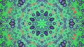 Green abstract background. Particle flow. Kaleidoscope. Seamless looping. Wideo