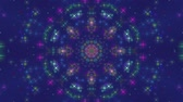 Colorful abstract motion background. Blinking of colorful glitter stars. Seamless loop. Kaleidoscope. Wideo