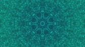 Abstract motion background. Particles. Kaleidoscope. Seamless loop.