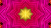 Abstract colorful motion background. Kaleidoscope. Seamless loop. Wideo