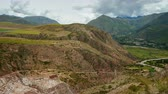 ameryka : Panoramic View on Maras Salt Mines