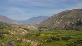 ameryka : Panoramic View On Colca Canyon