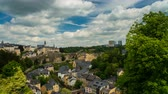 abbey : Beautiful Clouds over Luxembourg City Stock Footage