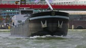 waterway : Cargo ship sailing through rotterdam