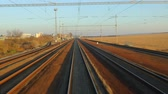 Railway travel view Stock Footage