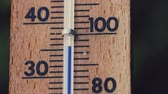 Thermometer in summer Stock Footage