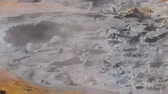 Volcanic hot mud pool Stock Footage