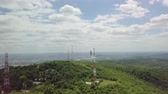 broadband : Transmitter towers on a hill Stock Footage