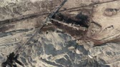 coal mine : Coal Mine Excavation Drone Top Down View