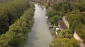 hungria : River Danube view Stock Footage