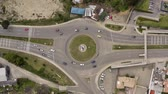 equador : Roundabout from above, multi-lane Stock Footage