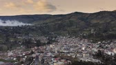 latin amerika : Town in the Andes, El Tambo, Ecuador, aerial view