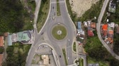 altyapı : Roundabout from above, multi-lane Stok Video